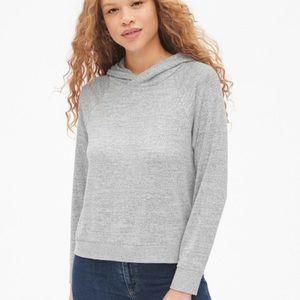 GAP soft spun raglan space grey pullover hoodie